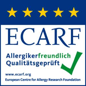 ECARF Siegel für Allergikerfreundlich