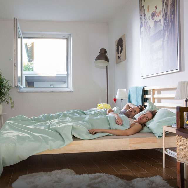 Polltec ensures peaceful sleep with an open window
